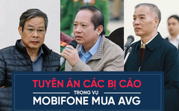 Tuyên án vụ MobiFone mua AVG: Bị cáo Nguyễn Bắc Son bị tuyên án Chung thân, Trương Minh Tuấn 14 năm tù