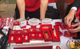 Xếp hàng dài mua vàng, bánh hũ vàng, cá lóc... làm không kịp bán, dân buôn lãi đậm trong ngày vía Thần Tài