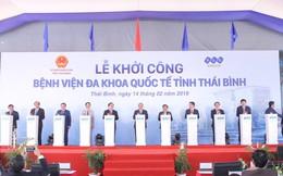 Thủ tướng nhấn nút khởi công bệnh viện đa khoa quốc tế do tập đoàn FLC làm chủ đầu tư tại Thái Bình