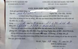 """Hà Nội: """"Choáng"""" thông báo tiền nước 23,6 triệu đồng/tháng, không nộp cắt nước"""
