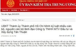 UBKT Thành ủy TPHCM, UBKT Tỉnh ủy Long An thi hành kỷ luật cán bộ