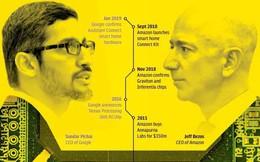 """Cuộc chiến Thung lũng Silicon: Trí tuệ nhân tạo đã châm ngòi cho một cuộc chạy đua """"chip"""" giữa Amazon và Google như thế nào?"""