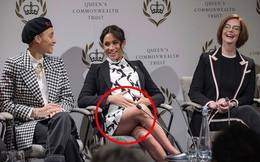 Meghan bị chỉ trích vì mặc bộ váy phản cảm trong sự kiện chào mừng Ngày quốc tế phụ nữ và tiếp tục để lộ dấu hiệu bất thường về bụng bầu 8 tháng