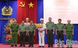 Bộ Công an bổ nhiệm tân Phó Giám đốc Công an tỉnh Bắc Giang