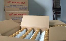 Thu giữ hàng trăm chai dầu nhớt giả mạo nhãn hiệu Honda