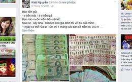 Tái diễn rao bán tiền giả trên mạng