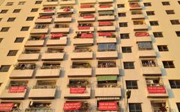 """Chung cư VP6 Linh Đàm của đại gia Lê Thanh Thản: Từng """"nóng"""" với tiền chênh khủng giờ lại """"đỏ rực"""" băng rôn đòi sổ đỏ"""