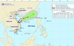Áp thấp nhiệt đới cách đất liền Quảng Trị - Quảng Ngãi 180km