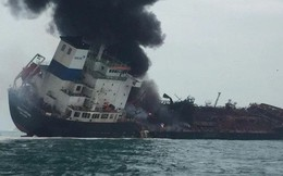 [NÓNG] Tàu chở dầu Việt Nam bốc cháy dữ dội ngoài khơi Hong Kong, có người thiệt mạng