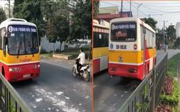 Xe buýt chở khách ngang nhiên đi ngược chiều ở Thái Nguyên: Thông tin bất ngờ