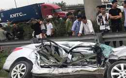 Tai nạn đường sắt 2 người tử vong ở Hải Dương: Ô tô bị tàu hoả đẩy khoảng 100 mét