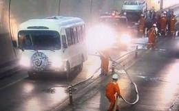 Xe đưa tang qua hầm Hải Vân bốc cháy, cảnh sát khẩn cấp sơ tán quan tài