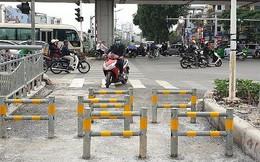 Lắp rào chắn ngăn xe máy đi vào làn đường dành riêng cho người đi bộ ven sông Tô Lịch