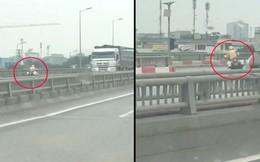 CSGT lái xe công vụ ngược chiều trên đường vành đai 3 ở Hà Nội: Có vi phạm luật giao thông?