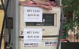 Nhiều cửa hàng ở Hà Nội thông báo 'hết xăng A95'