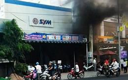 Tiền Giang: Cháy lớn ở cửa hàng xe máy SYM