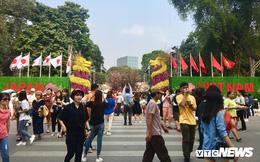 Ảnh: Nghìn người nô nức đổ về phố đi bộ Hà Nội tham gia Lễ hội hoa anh đào