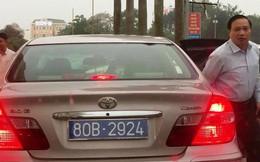 Phó bí thư tỉnh đi ôtô có 2 biển số xanh