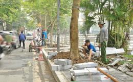 Hơn 100 tuyến phố tại Hà Nội đang được lát gạch bê tông vân đá