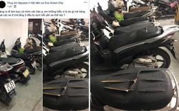 Hàng loạt xe máy bị kẻ xấu rạch yên ở chung cư Hà Nội