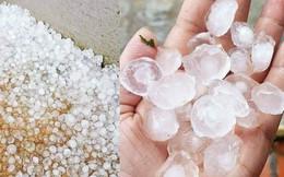 Mưa đá kéo dài 30 phút tại xã biên giới Nghệ An
