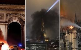 4 tháng và 3 nỗi đau quá lớn của người Paris: Lần lượt Khải Hoàn Môn, tháp Eiffel đến Nhà thờ Đức Bà chìm trong khói lửa