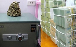 Tiền mặt xếp khối cất két, đút gầm giường trong nhà giàu Việt