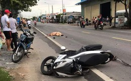 Tiền Giang: Thượng úy cảnh sát giao thông bị xe container cán tử vong tại chỗ