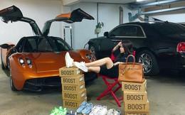 """Con gái đầu doanh nhân Phạm Trần Nhật Minh """"khoe"""" dàn đồ hiệu bên cạnh siêu xe Pagani Huayra đắt nhất Việt Nam"""