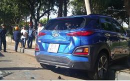 Ảnh: Hiện trường vụ ô tô con tông hàng loạt xe khi dừng đèn đỏ