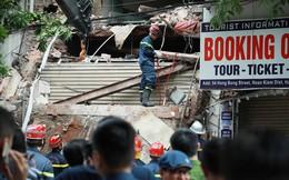 Hiện trường tan hoang vụ sập nhà phố cổ giữa trung tâm Hà Nội