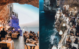 """Nhà hàng trong hang động lãng mạn nhất nước Ý: Có khả năng """"gây mê"""" cao cho bất kì cặp đôi nào hẹn hò tại đây"""