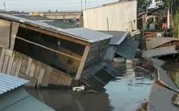 Sạt lở bờ sông Nha Mân, 5 căn nhà chìm dưới nước