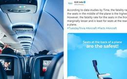 """Sốc: Hãng hàng không Hà Lan gây phẫn nộ khi """"lỡ miệng"""" công bố chỗ ngồi… """"dễ chết nhất"""" trên máy bay"""