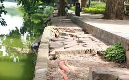 Bờ kè Hồ Gươm xuống cấp nghiêm trọng khiến người dân lo lắng