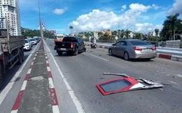 Ô tô khách ủi hàng loạt xe máy ở cầu Bãi Cháy, 5 người thương vong