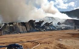Đang cháy lớn ở khu công nghiệp Phú Tài, Bình Định