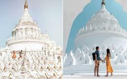 Ngỡ ngàng thấy dân du lịch check-in bước trên… sóng ở ngôi chùa trắng đẹp nhất nhì Đông Nam Á