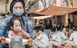 """Một tuần sau vụ cháy kho Rạng Đông: Người dân """"sống cùng khẩu trang"""" nhưng chợ cóc, quán ăn vẫn tấp nập như trước"""