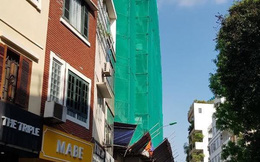 Cao ốc 'làm xiếc' trên đất trung tâm Hà Nội tiếp tục nhận 'trát' phạt