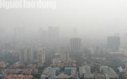 Hình ảnh không khí đặc quánh, mờ mịt ở Hà Nội