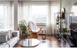 Căn hộ tầng cao sở hữu vẻ đẹp yên bình, giản dị