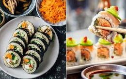Đố bạn biết sushi và kimbap có gì khác nhau: Ngoài xuất xứ từ 2 quốc gia, điểm đặc trưng này mới là quyết định!