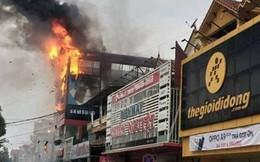 Cháy lớn ở siêu thị điện máy Dũng Loan, gây thiệt hại lớn