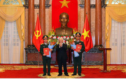 Tổng Bí thư, Chủ tịch nước trao Quyết định thăng quân hàm cho 2 tướng lĩnh quân đội