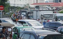 Đóng hầm Thủ Thiêm 2 giờ, giao thông Sài Gòn rối loạn