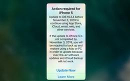 Nếu vẫn đang sử dụng iPhone 5, hãy cập nhật ngay iOS 10.3.4 để chiếc điện thoại của bạn không bị biến thành cục gạch
