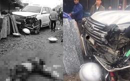 Xe Lexus ngũ quý 7 tông chết 1 phụ nữ ở Hà Nội