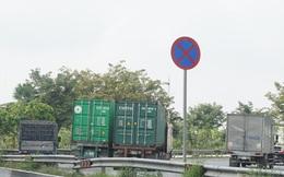 Xe container đậu hàng dài, 'bịt kín' cửa ngõ phía Đông