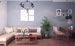 Đầu tư 187 triệu cho nội thất căn hộ 86m2 đơn giản, đẹp và hiện đại